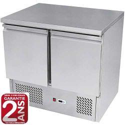 Desserte 2 portes ou 4 tiroirs réfrigérées inox positive ou négative groupe tropicalisé
