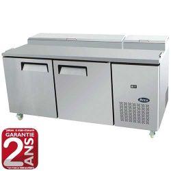 Table réfrigérée type saladette avec kit réfrigéré intégré 2 ou 3 portes inox