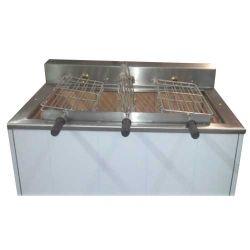 Churrasqueira 3 grilles rotative (9 poulets) avec ou sans grille fixe supplémentaire 1000x800 mm