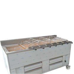 Churrasqueira 7 grilles rotatives (21 poulets) avec ou sans grille fixe supplémentaire 1000x800 mm