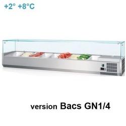 """Kit réfrigéré vitré """"GASTRO LINE"""" - de 5 à 10x Bacs GN1/4"""