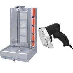 Pack machine à kebab + couteau gyros électrique