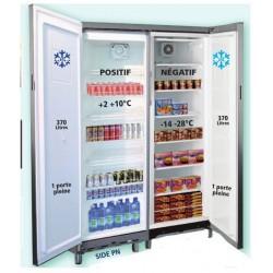 Armoire réfrigérée MIXTE 2 portes - Positive et Negative - 2x370L