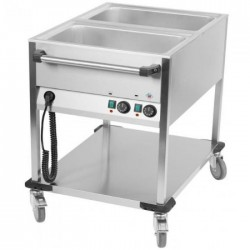 "Bain marie sur chariot ""Mobile"" 2 cuves gastro GN1/1"
