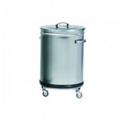 Poubelle à déchets inox - cylindriques