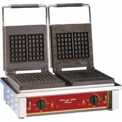 Gaufrier professionnel électrique 2 fers bruxellois 3x5 carrés