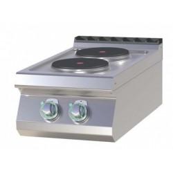 Fourneau électrique 2 ou 4 plaques 2,6kW/plaque version TOP gamme 700