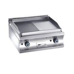 Plaque cuisson élec. 1/2 lisse 1/2rainurée - TOP - MBM