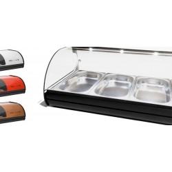 Vitrine à réfrigérée pour tapas - Standard - 4xGN1/3x40