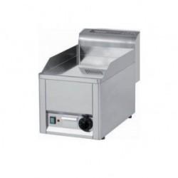 Plaque à snacker lisse ou rainurée chrome - surface de cuisson 300x600