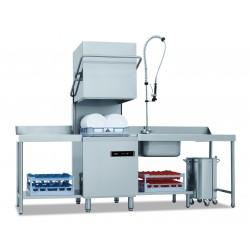 Lave vaisselle à capot - Paniers 500x500mm - double paroi - passage 40cm