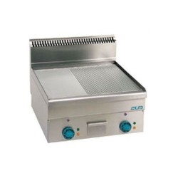 Plaque de cuisson électrique 1/2 lisse et 1/2 rainurée large - MBM