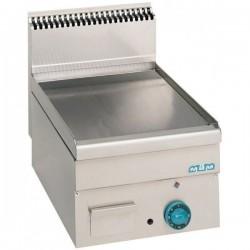 Plaque grillade lisse ou chromée à gaz, surface utile 350x500mm - MBM