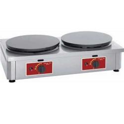 Crêpière double électrique ou gaz professionnelle Electro Broche 40 cm ø