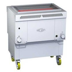 Churrasqueira grill à gaz horizontal Gresilva surface de cuisson 650x407MM