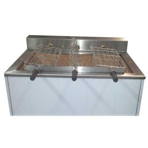 Churrasqueira charbon de bois 3 grilles rotatives (9 poulets