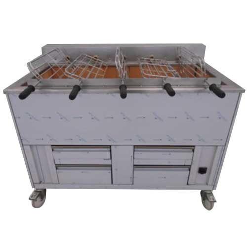 Churrasqueira charbon de bois 5 grilles rotatives (15