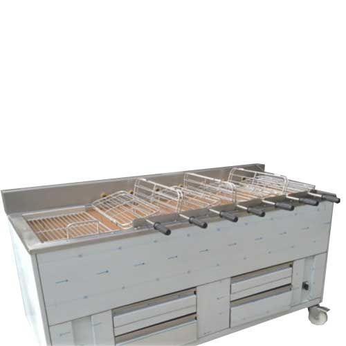 Churrasqueira charbon de bois 7 grilles rotatives (21