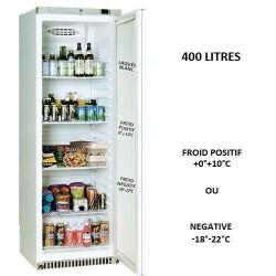 Armoire ABS thermoformé réfrigérée 1 porte 380L laquée blanc positive ou négative
