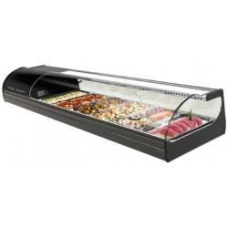 Vitrine à sushi réfrigérée - 8 bacs x GN1/3