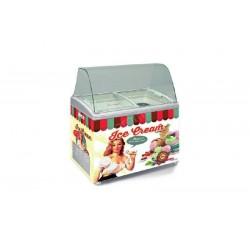 Comptoir vitrine de crèmes glacées - 310 Litres - SERIE VINTAGE