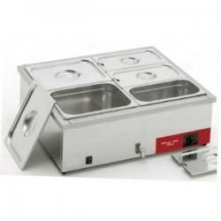 Bain marie électrique 2x GN1/1 Electro Broche avec robinet de vidange