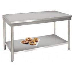Table de travail inox avec étagère - profondeur 600mm