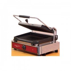 Panini grill simple ou double plaque rainurées 3kW Electro Broche