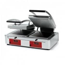 """Grill panini plaque rainurée ou lisse DOUBLE 3,4kW- """"DUPLEX"""""""
