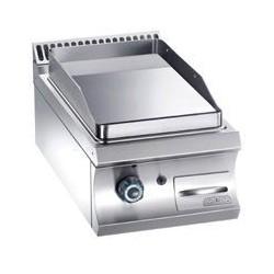 Plaque à gaz lisse, chromée ou rainurée - surface 350x560 - MBM