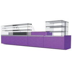 Vitrine version saladette - EASY SLIM - ISOTECH