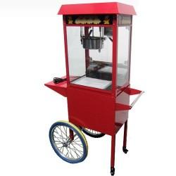 Machine à Pop Corn - sur chariot à roulettes
