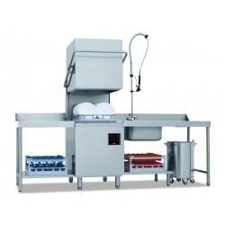 Lave vaisselle à capot - Paniers 500x500mm - double paroi - passage 38cm