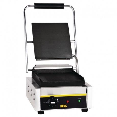 Appareil à panini simple plaques en fonte lisses ou rainurées 230V BUFFALO